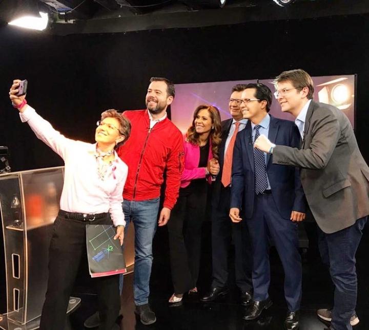 Los cuatro candidatos a la Alcaldía de Bogotá