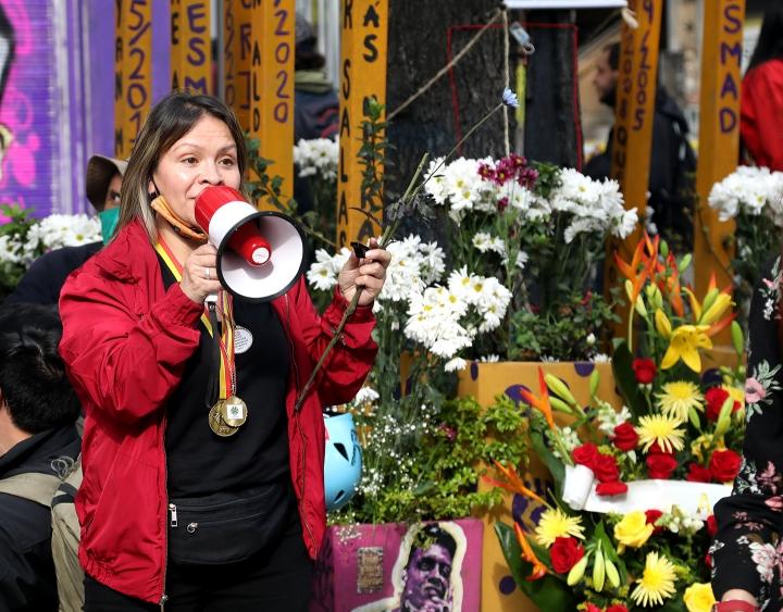 Alejandra Medina, madre de Dilan Cruz