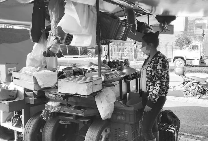 Nora, trabajadora informal en el sector de Gran Granada.