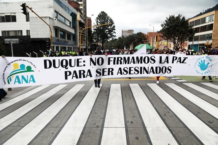 Marcha de las FARC por la Séptima de Bogotá