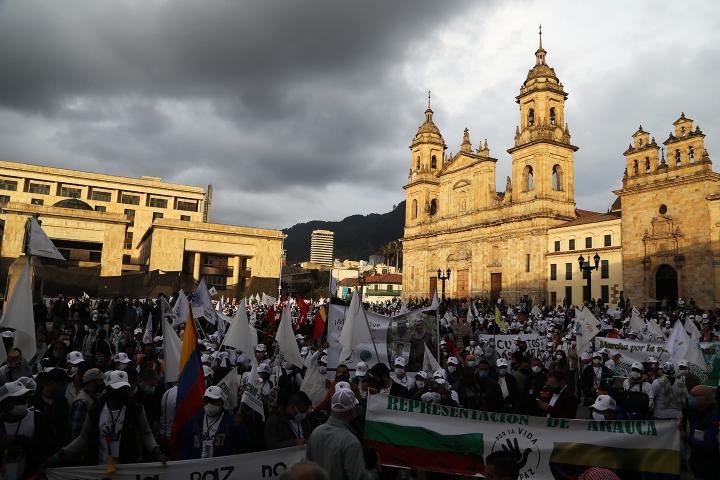 Fin de la Marchas en la Plaza Simón Bolívar