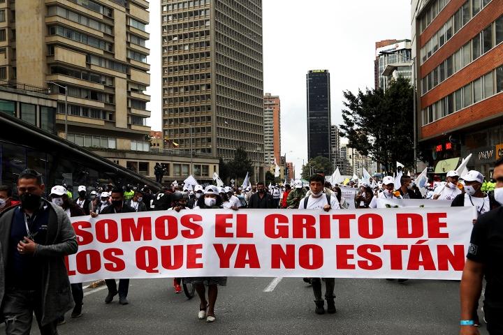 Pancarta 'Somos el grito de los que ya no están'