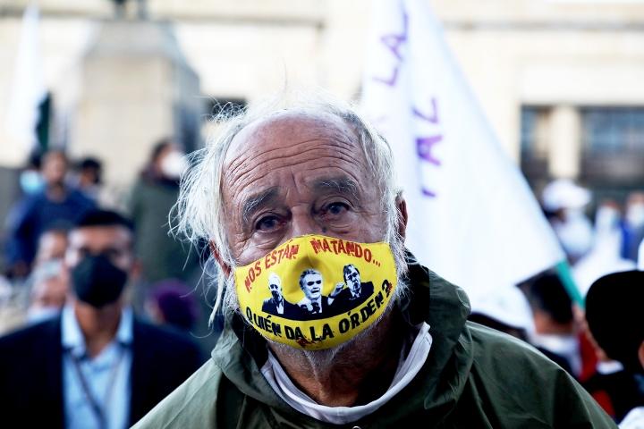Retrato en las marchas de las FARC