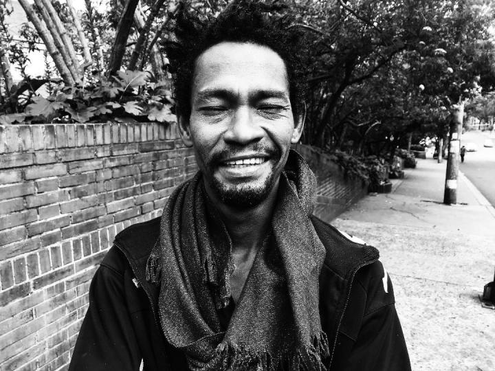 Retrato a Andrés, de Santa Marta, habitante de calle en Bogotá