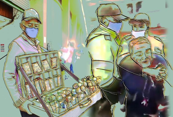Ilustración Abuso policial en Pandemia