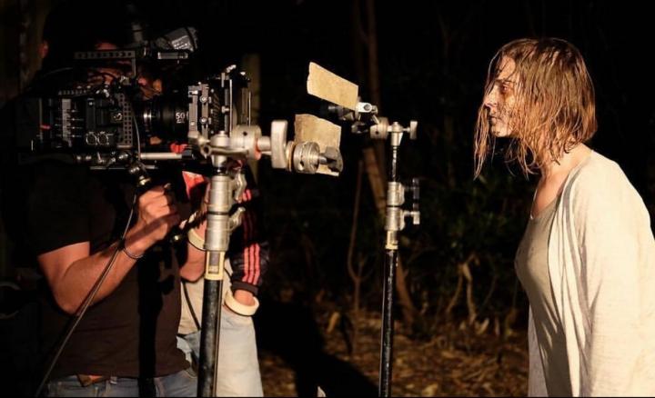 Grabaciones durante el rodaje de 'Fortuna Lake'.