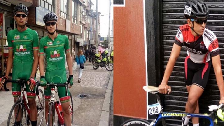 (De izq. a der.) Julían Rojas, Franco Pedraza y Cristián Niño se preparan para la Vuelta de la Juventud