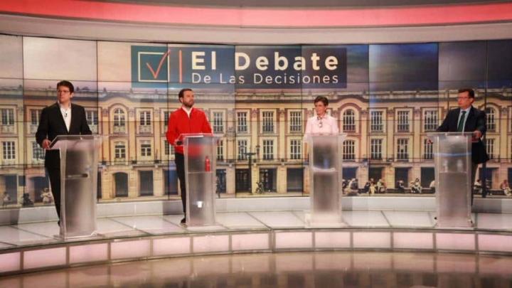 Candidatos a la Alcaldía de Bogotá en el debate de RCN