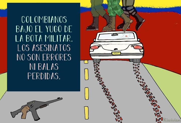 Colombianos bajo el yugo de la bota militar