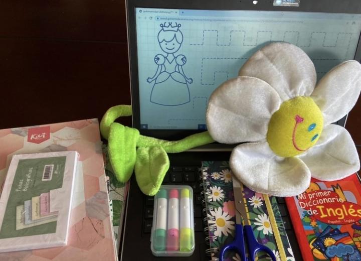 Educación virtual en preescolar.