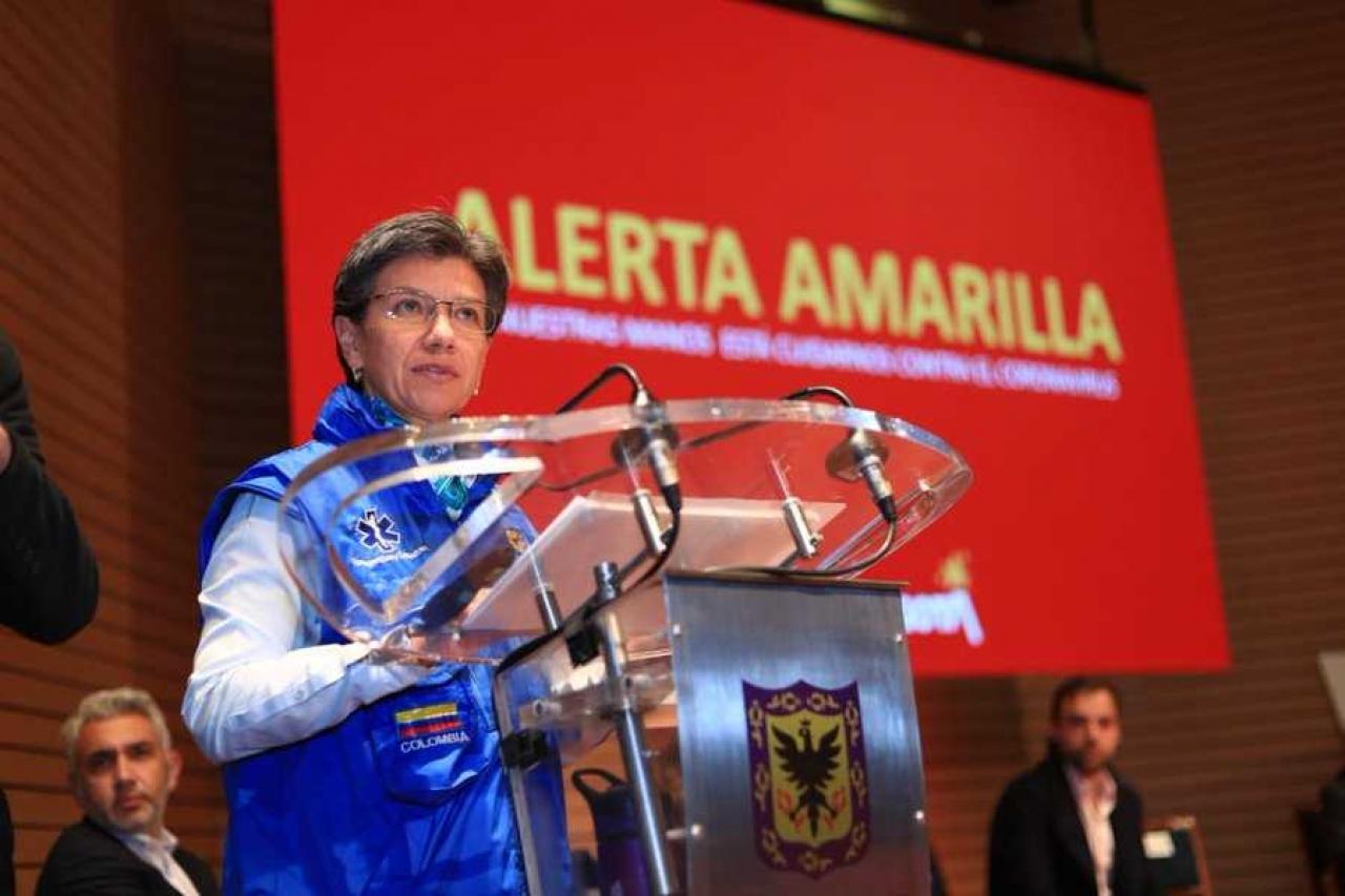Se declara la alerta amarilla en Bogotá por la pandemia global del 'coronavirus'