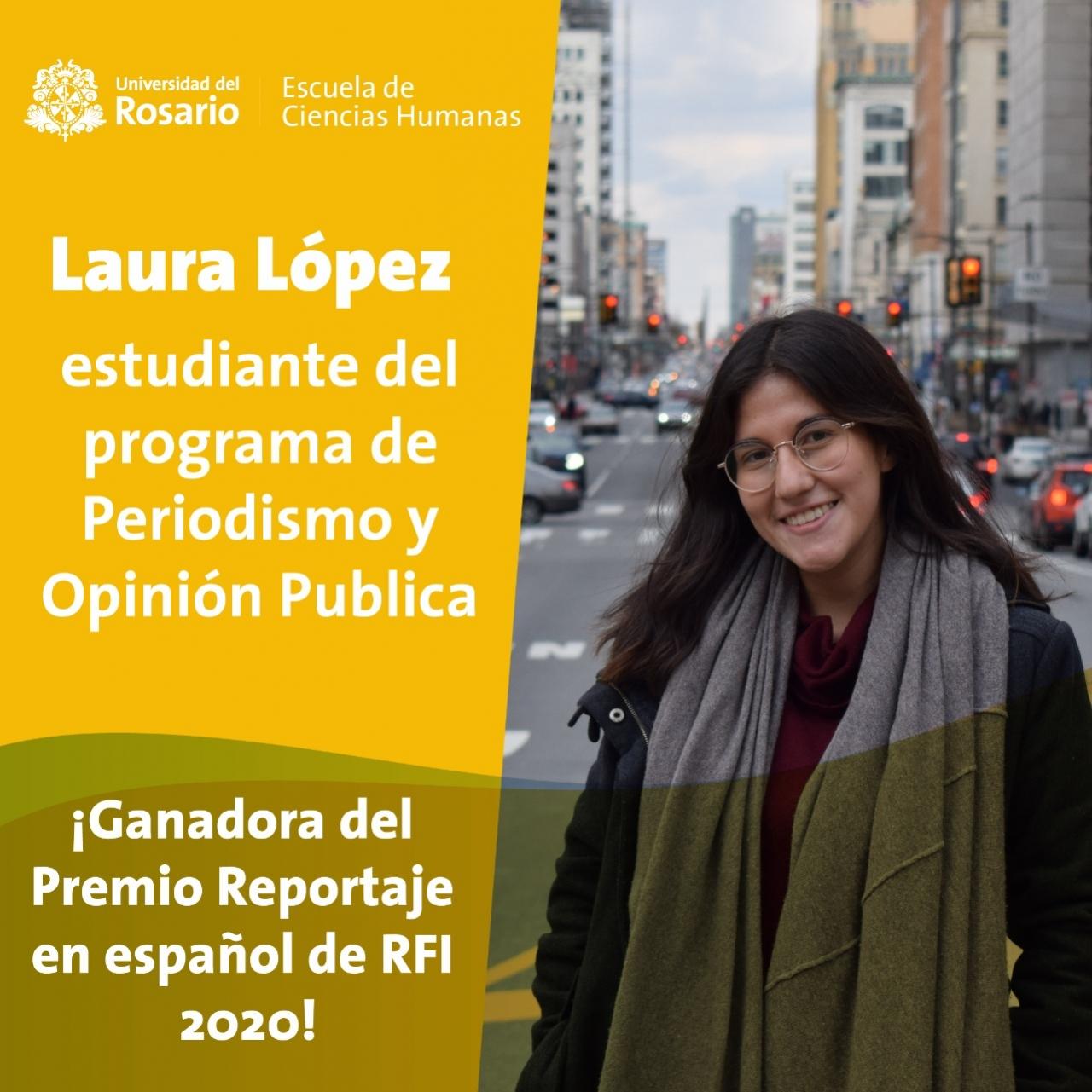 Laura López, premio al reportaje de Radio Francia Internacional 2020