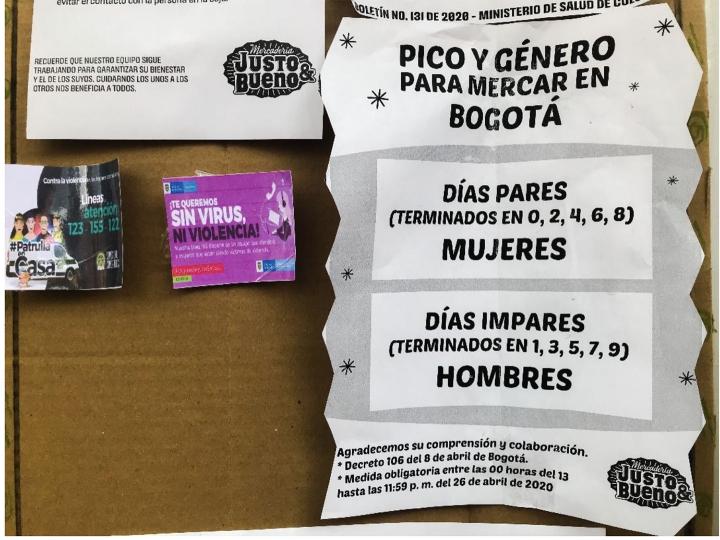 Pico y género en Bogotá