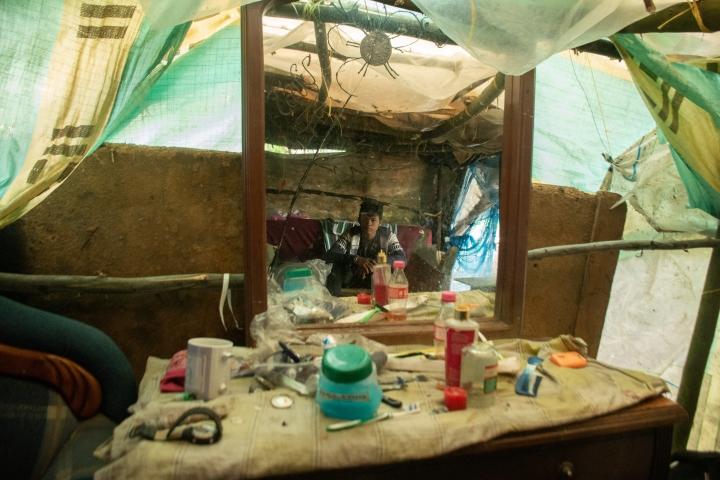 Asentamiento venezolano en un humedal de Bogotá