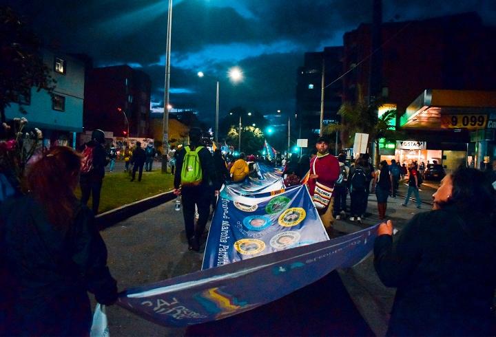 Los sindicatos también participaron de las manifestaciones.