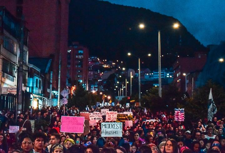 Fueron miles de personas que estuvieron pacíficas sin la presencia del ESMAD.