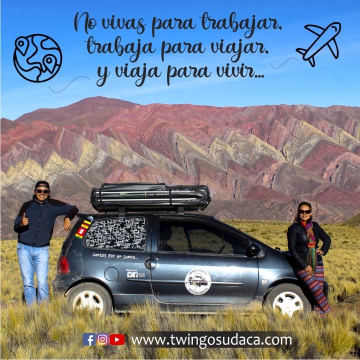 En Twingo, pareja viajera, por Latinoamérica