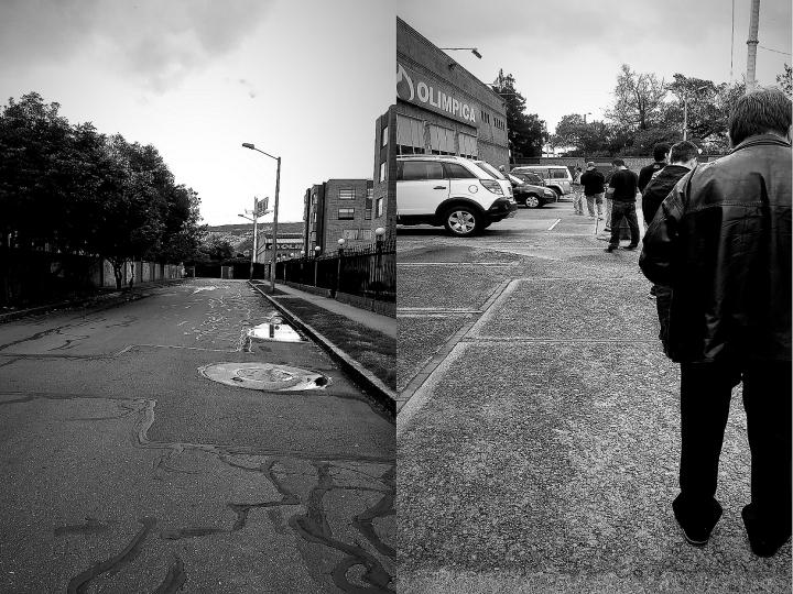 """""""Fantasma"""". Es un panorama habitual por estos días, las calles vacías como si fueran calles desiertas en un pueblo fantasma. Se restringe la libre circulación. /  """"Paciencia"""". Debes de esperar para abastecerse, la única manera es simplemente formarse y esperar, distanciándose de los demás. Se restringe la facilidad."""