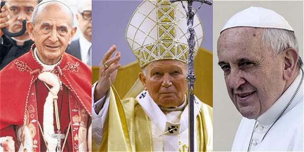 Los papas que han visitado Colombia