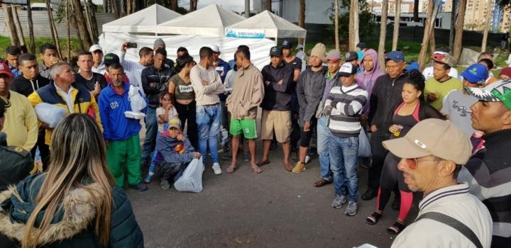 Jornada de ayuda a los migrantes