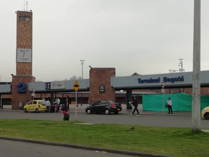 Terminal de Transportes de Bogotá, lugar de llegada y asentamiento de los venezolanos que llegan desde Cúcuta y diferentes ciudades del país.