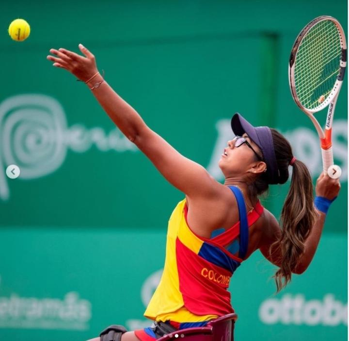 María Angélica Castro, referente de talla internacional que juega tenis en silla de ruedas