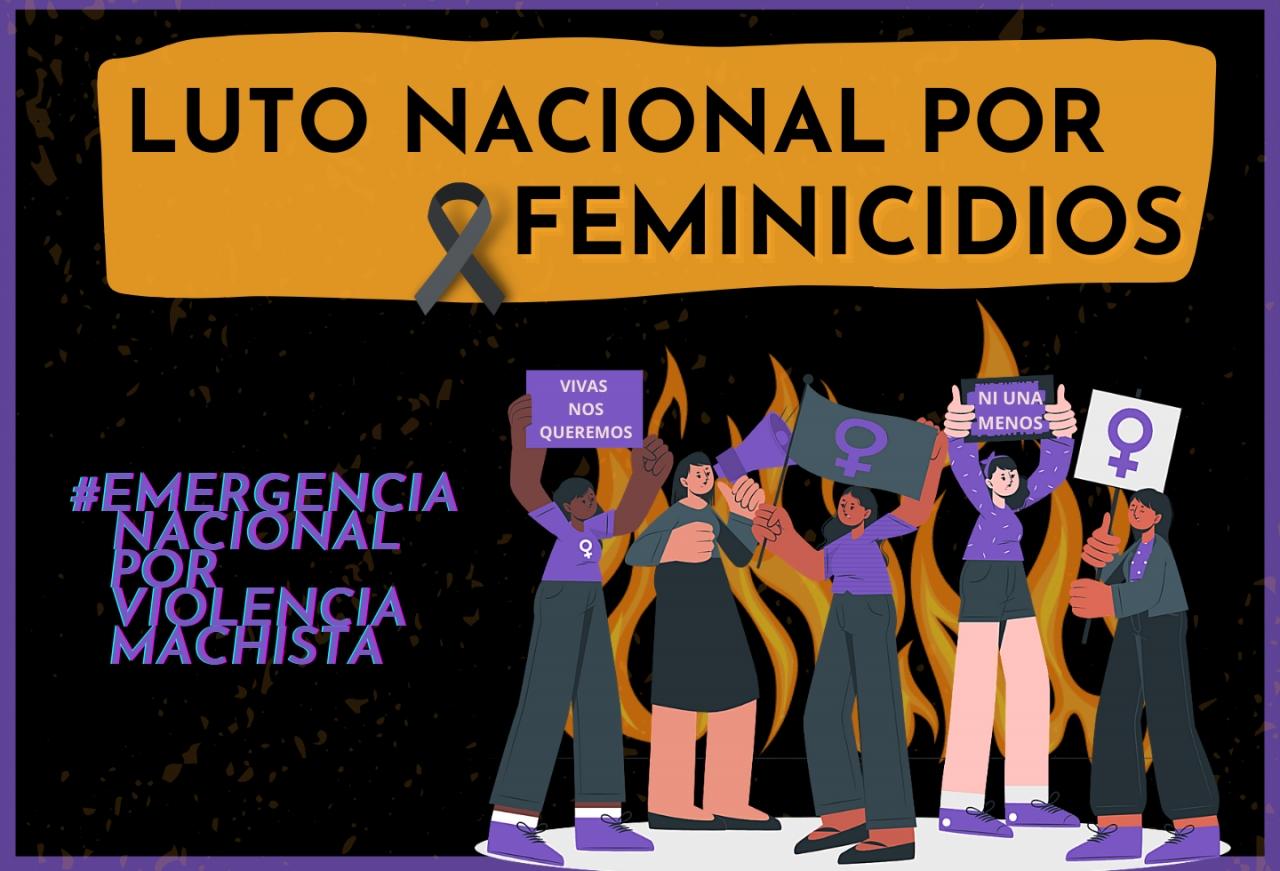 Colectivos de mujeres colombianas, en luto nacional por el aumento de feminicidios en pandemia