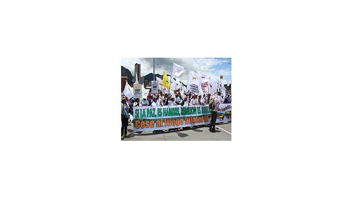 Uno de los eventos más importantes de la Semana por la Paz fue la marcha del 9 de abril.
