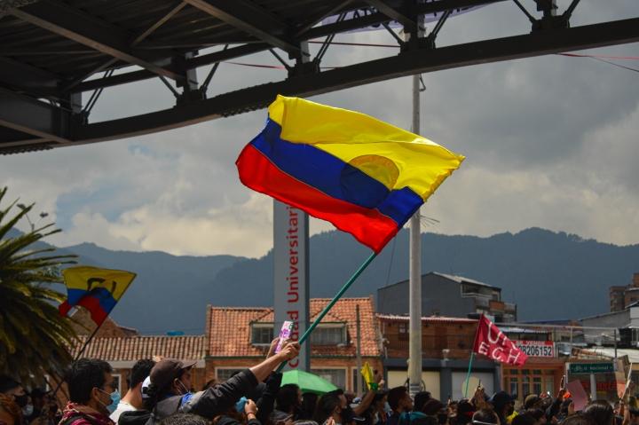 Banderas en la manifestación