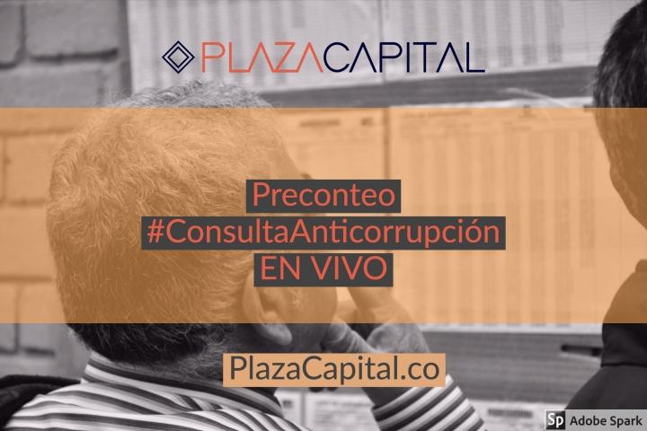 Consulte el preconteo de la Consulta Anticorrupción