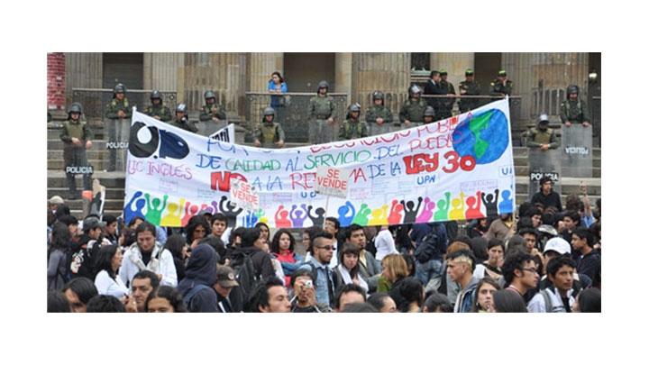 Foto del día: Marcha de los estudiantes en Bogotá