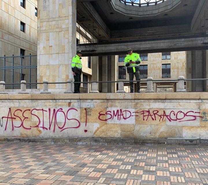 Las paredes del centro capitalino están llenas de mensajes tras el Paro Nacional