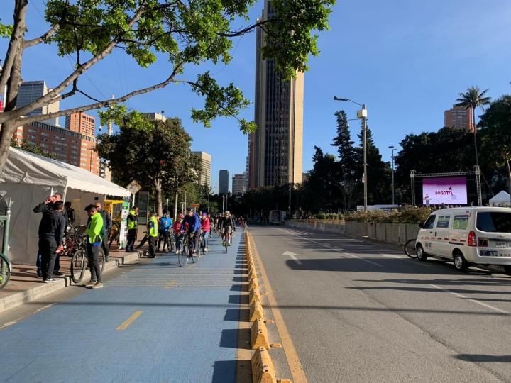 Funcionarios de la Secretaria General en Bicicleta