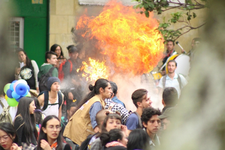 ¿Cómo fue la marcha de los estudiantes por altos créditos del Icetex?