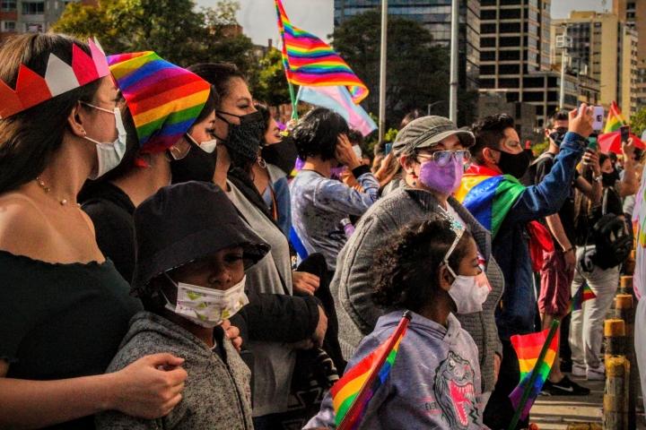 Imágenes de la marcha del orgullo LGBTIQA+ en Bogotá