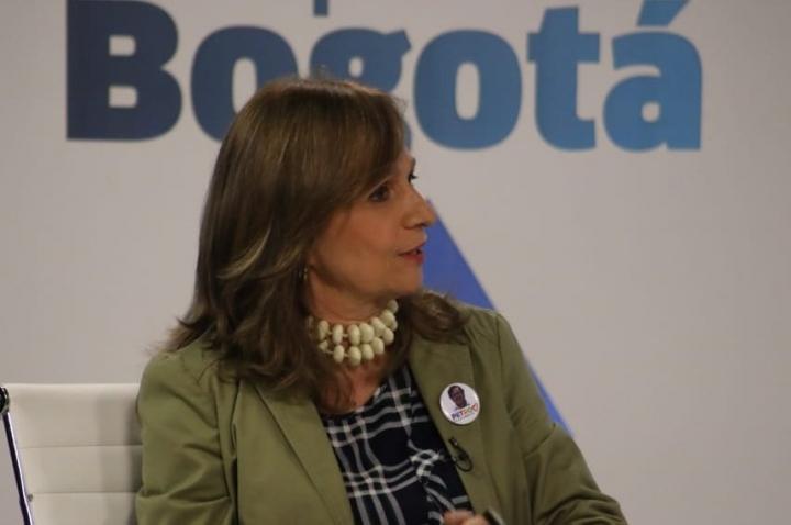 La exsenadora y fórmula vicepresidencial de Gustavo Petro, Ángela María Robledo.