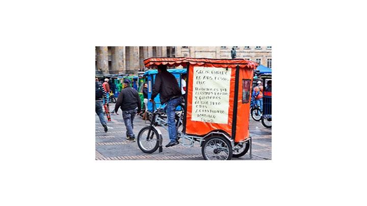 Una protesta en bicicleta