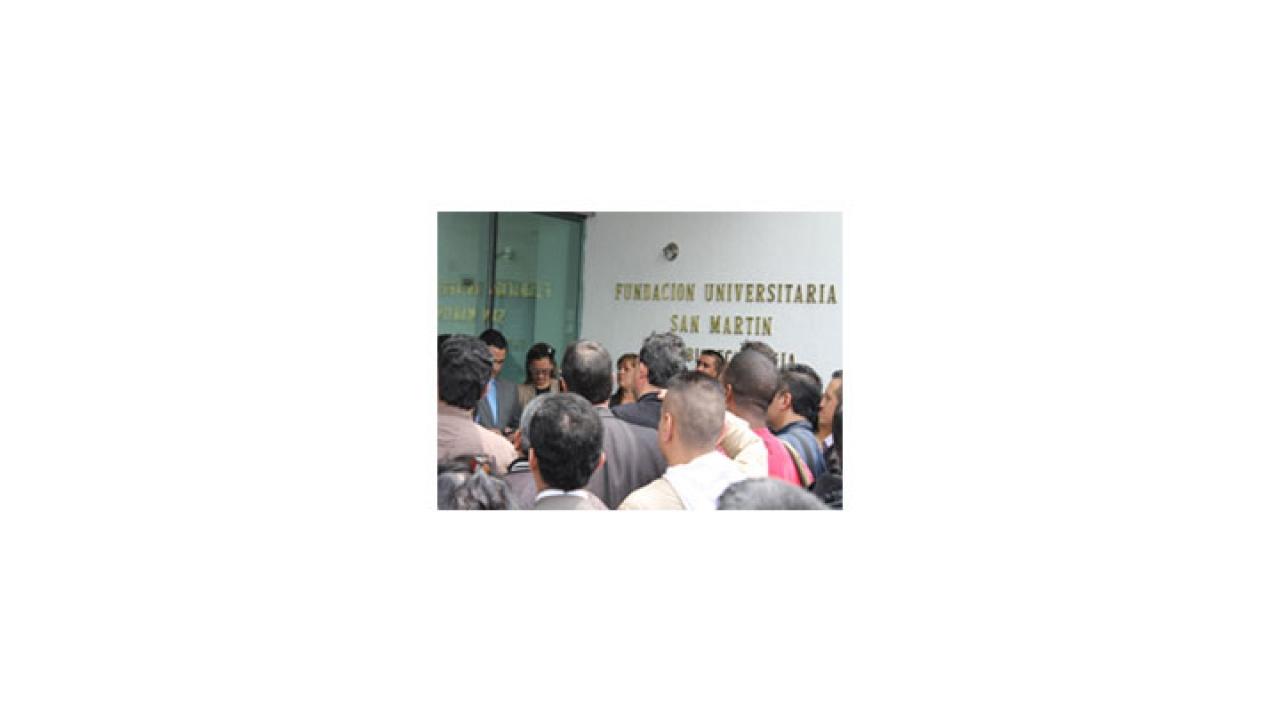 La Universidad San Martín intenta sobrevivir a la crisis