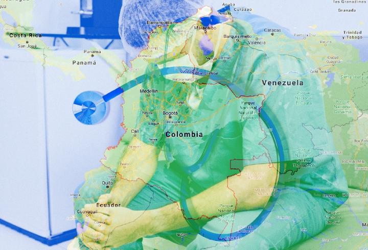 Collage sobre negligencia médica en Colombia