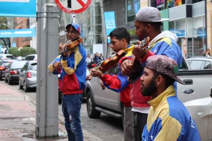 Músicos venezolanos en Bogotá