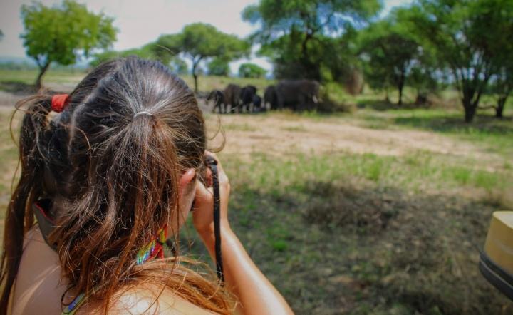 Laura en Safari