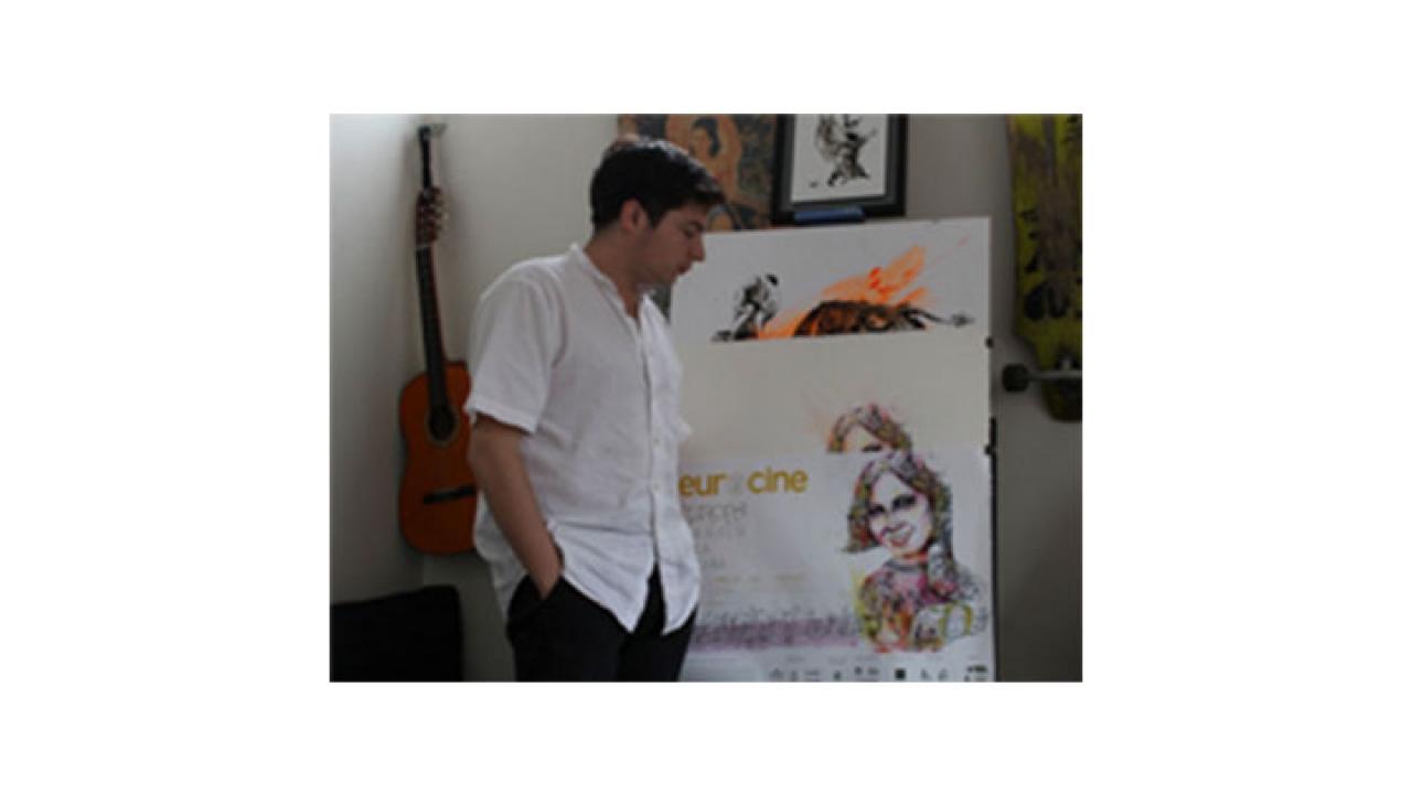 Santiago Ayerbe, el artista que le dio 'cara' a Eurocine este año