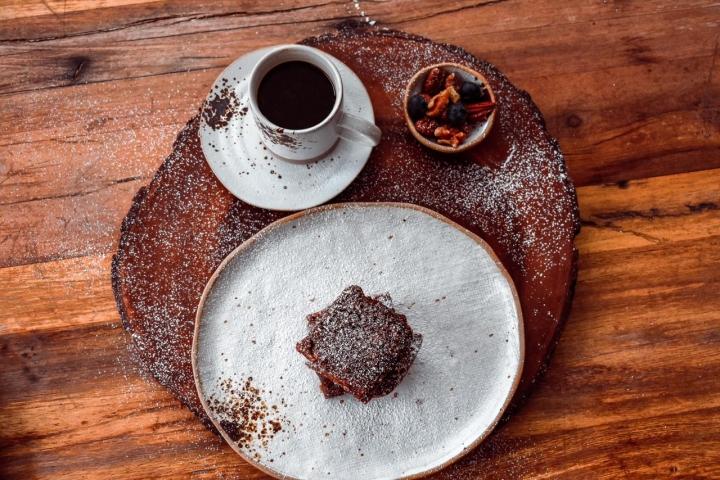Brownie en la mañana