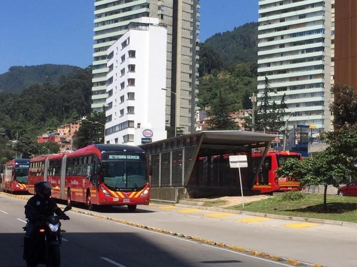 Estación Universidades de TransMilenio, una de las más usadas por los estudiantes en la ciudad