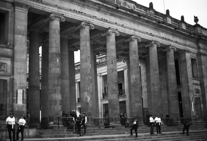 Imagen de la fachada del Congreso de la República de Colombia