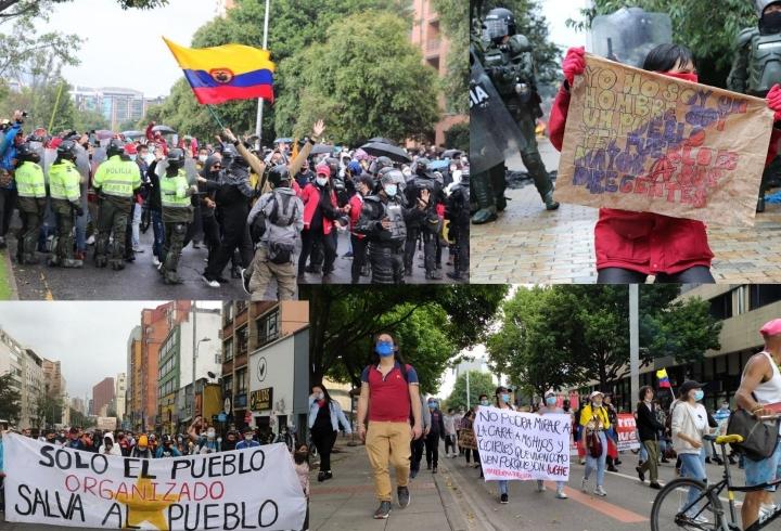 Manifestaciones en las calles de Bogotá