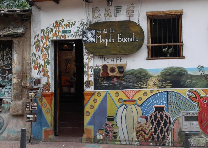 Fachada del café Magola Buendía (carrera 3 # 17-60). Foto: Laura Daza