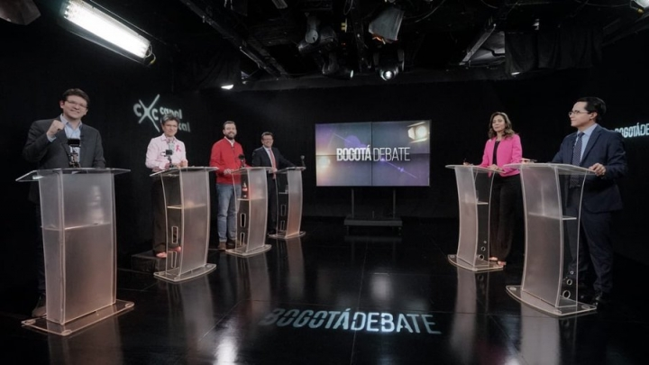 Debate de los candidatos en Canal Capital