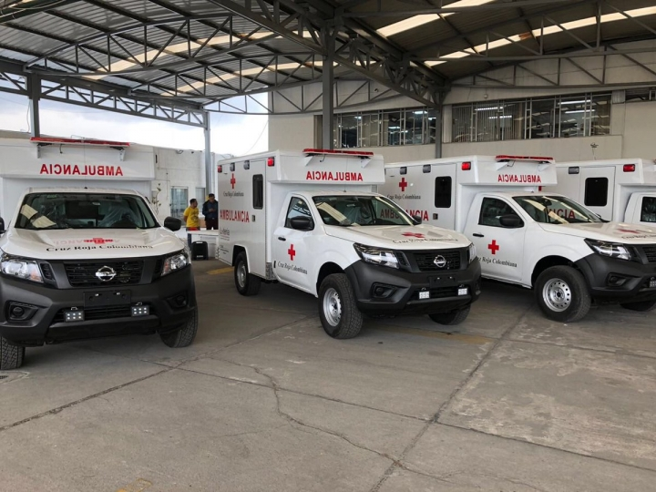 Ambulancias De la Cruz Roja en Colombia