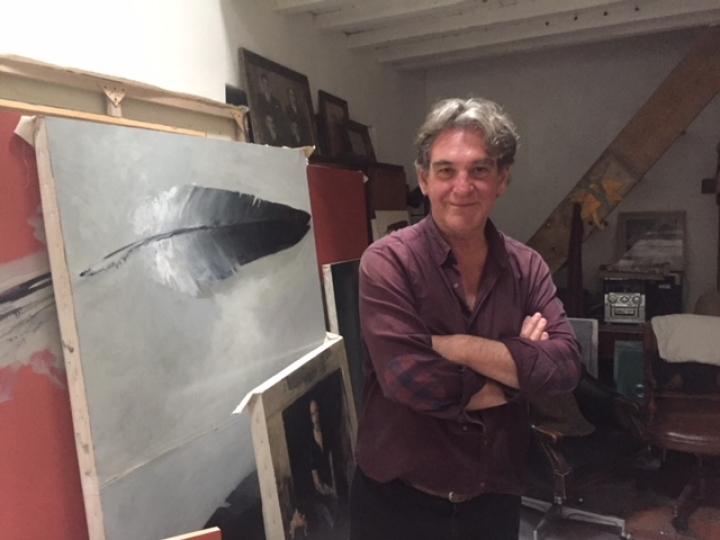 El artista Arturo de Narváez. Foto: María Fernanda Agreda